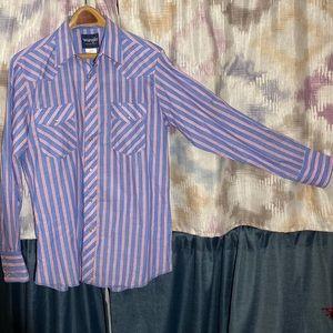 Wrangler Western Shirt w/ Pearl Snaps